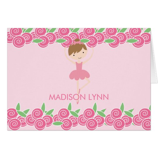 Sweet Ballerina Tutu Thank You Note Card