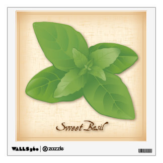 Sweet Basil Herb Wall Sticker