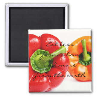Sweet Bell Peppers || Eat more from the earth Square Magnet