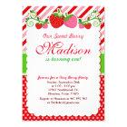 Sweet Berry Strawberry Birthday Party Invitation