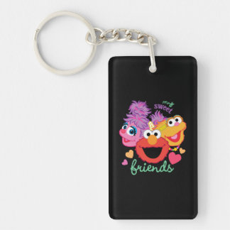 Sweet Best Friends Characters Double-Sided Rectangular Acrylic Keychain