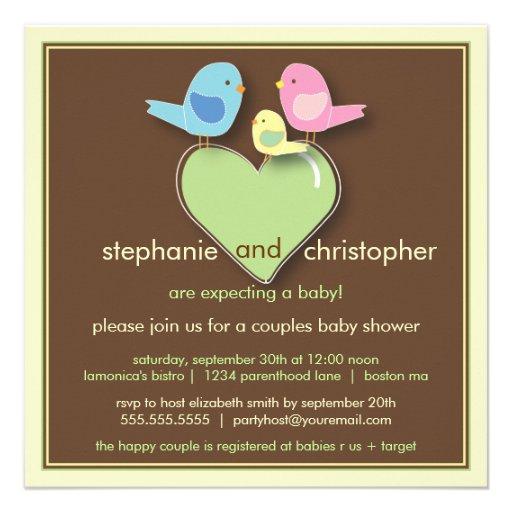 couples baby shower invitation square invitation card zazzle