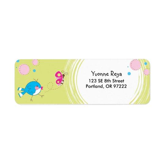 Sweet Birdie Return Address Label