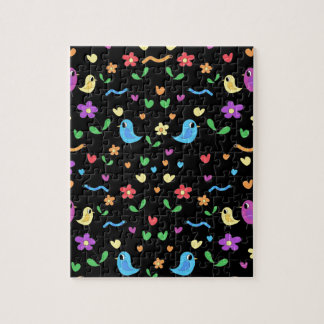 Sweet birds and flowers pattern jigsaw puzzle