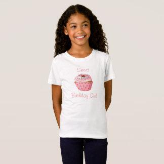 Sweet Birthday Girl Tee, Cute Cupcake T-Shirt