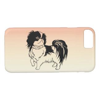 Sweet Black and White Dog Orange iPhone 8/8/7 Case