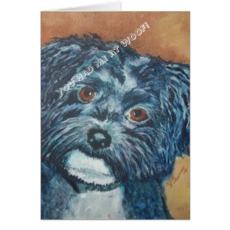 SWEET BLACK HAVANESE | GREETING CARD