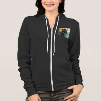 Sweet Black Lab Hoodie by Willowcatdesigns