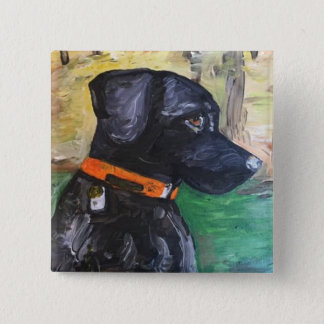 Sweet Black Lab pin by Willowcatdesigns