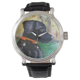 Sweet Black Lab Watch by Willowcatdesigns
