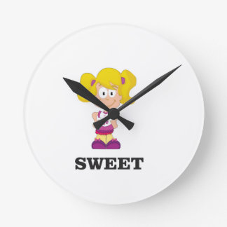 sweet blondie wall clock