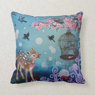 Sweet Blossom, Cotton Throw Pillow 16x16