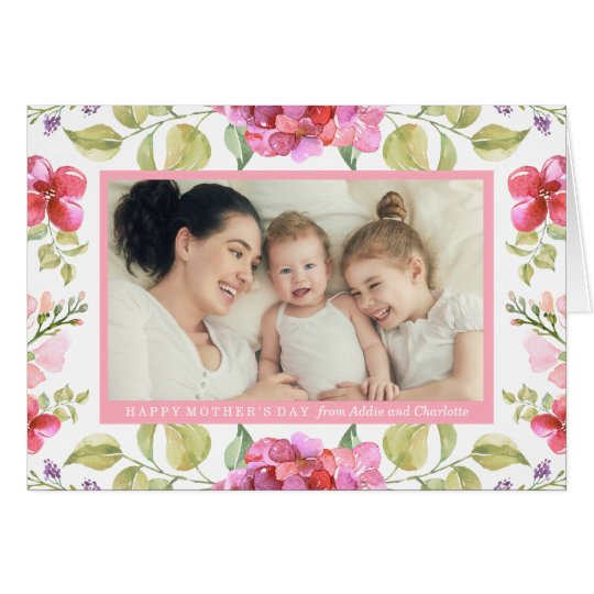 Sweet Blossoms Mother's Day Photo Greeting Card