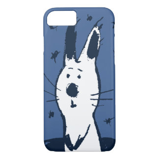 Sweet Blue and White Rabbit iPhone 7 case