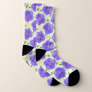 Sweet Blue Garden Flowers on Custom Colour 1