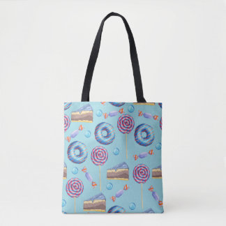 Sweet Blueberry Treats Pattern Tote Bag