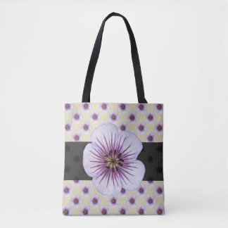 Sweet Botanical Floral Blue on any Colour Tote Bag
