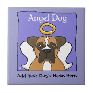 Sweet Boxer Dog Angel Memorial Tile