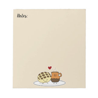 Sweet Bread and Hot Chocolate Pan caliente Mexican Notepad