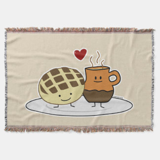 Sweet Bread and Hot Chocolate Pan caliente Mexican Throw Blanket