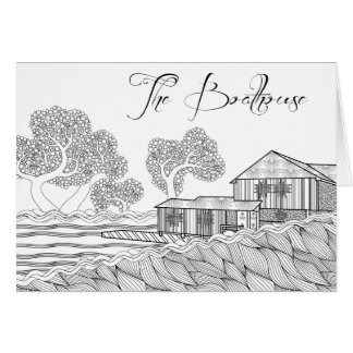 Sweet Briar College Boathouse Coloring Notecards Card