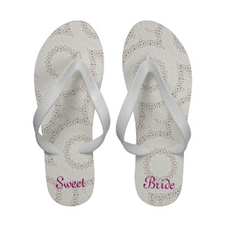Sweet Bride feminine thongs for a beach Wedding