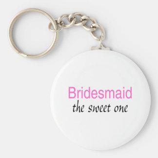 Sweet Bridesmaid Basic Round Button Keychain