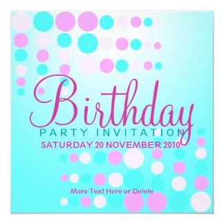 Sweet Bubbles Party / Birthday Invitation