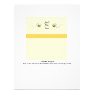 Sweet Bumble Bee Candy Bar Wrappers