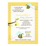 Sweet Bumble Bee Mommy to Bee Baby Shower Invite