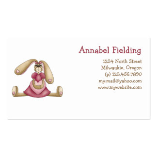 Sweet Bunnies · Bunny & Heart Business Card