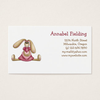 Sweet Bunnies · Bunny & Heart Business Card