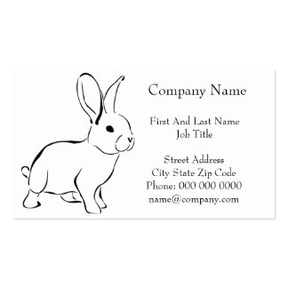 Sweet Bunny Cartoon Adorable Rabbit Business Card