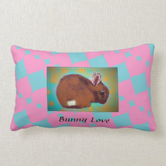 Sweet bunny pillow for little girl's room
