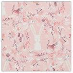 Sweet Bunny | Pink Floral Nursery Fabric