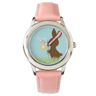 Sweet Bunny Rabbit Personalized Watch