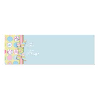Sweet Bunny Skinny Gift Tag 2 Mini Business Card