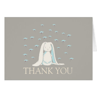 Sweet Bunny Thank You Note Card