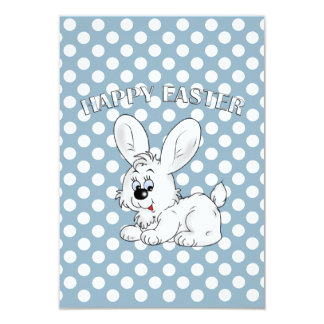 Sweet Bunny Wishes Easter Party Invitations