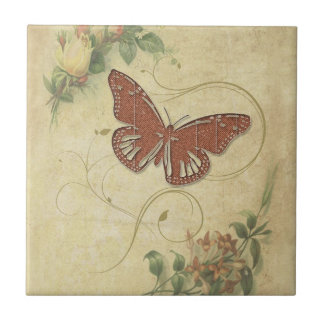 Sweet Butterfly ID198 Tile