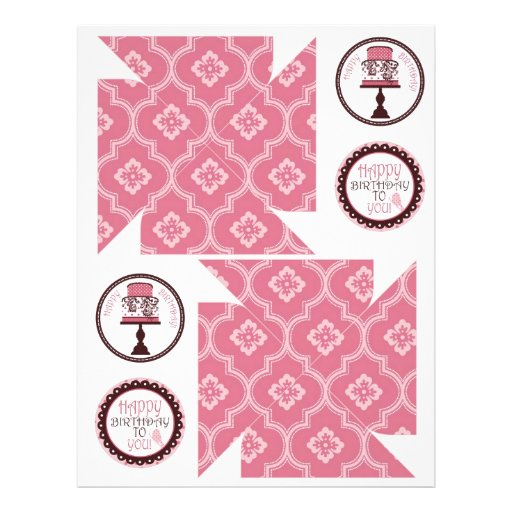 Sweet Cake Pinwheel Template Flyer Design