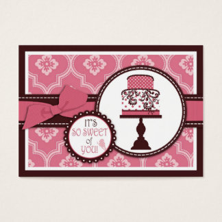 Sweet Cake TY Gift Tag Business Card