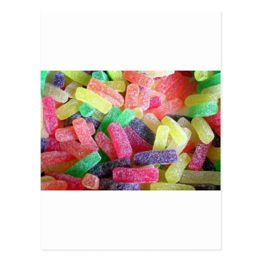 Sweet Candy Colorful Party Shower Birthday Art Post Cards