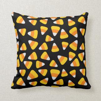 Sweet Candy Corn Halloween Throw Pillow
