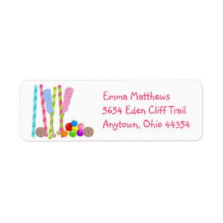 Sweet  Candy Return Address Labels