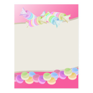 Sweet Candy Rolls Postcard