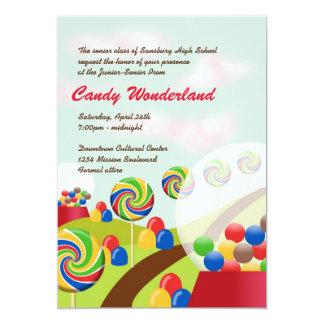 Sweet candy wonderland junior senior prom formal card