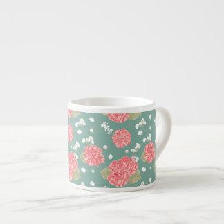 Sweet Carnation Flower Seamless Pattern Espresso Cup