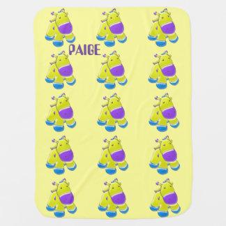 Sweet Cartoon Calf Baby Blanket