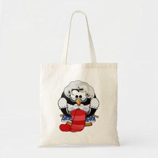 Sweet Cartoon Grandma Penguin Bag